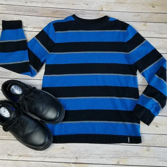 58fc1a05e9f TONY HAWK *Boys* Blue & black striped sweater